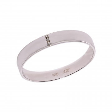 Обручальное кольцо с бриллиантами